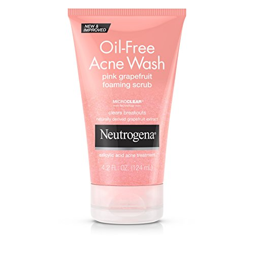 Neutrogena - Neutrogena Oil-Free Pink Grapefruit Exfoliating Acne Face Wash and Foaming Scrub with Salicylic Acid Acne Medicine, 4.2 fl. oz