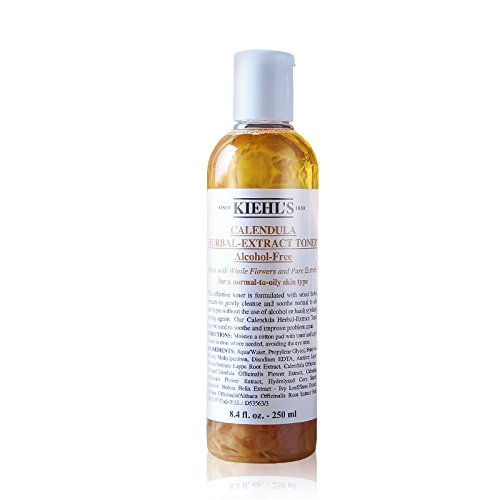 Kiehl's - Kiehl's Calendula Herbal Extract Alcohol-Free Normal To Oily Skin Type Toner for Unisex, 8.4 Ounce