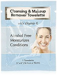 Diamond - Cleansing and Makeup Remover Wipes with Vitamin E, 60 Pack (in Organza Bag)