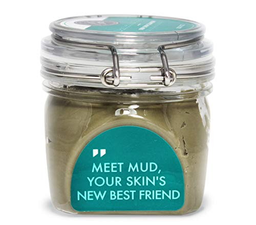 Grace & Stella Co. - Dead Sea Mud Clay Mask – Purify Toxins & Impurities from Congested, Acne Skin (200g / 7 fl oz) INCLUDES Sanitary Spatula – Minimize Pores, Blemishes & Wrinkles - Gift Idea