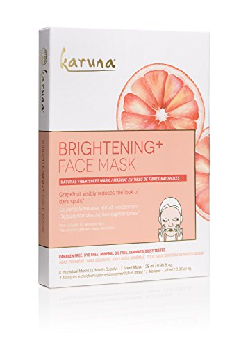 Karuna Karuna Brightening + Face Mask, Pack of 4, 3.8 fl. oz.