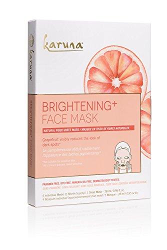 Karuna - Karuna Brightening + Face Mask, Pack of 4, 3.8 fl. oz.