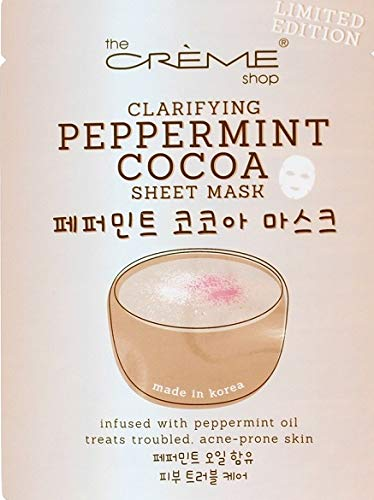 The Creme Shop - Peppermint Cocoa Sheet Mask, Clarifying