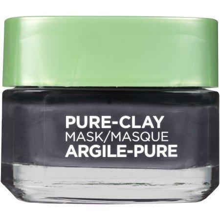 L'Oreal - Pure Black Clay-Detox & Brighten Pure-Clay Mask, + Charcoal