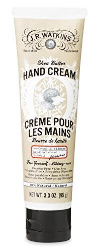 J.R. Watkins - J.R. Watkins Hand Cream with Shea and Cocoa Butters, Coconut, 3.3 Ounce