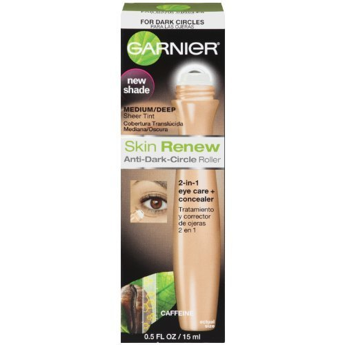 Garnier Garnier Skin Renew Anti-Dark Circle Roller, Medium/Deep, 0.5 Fluid Ounce (Pack of 3)