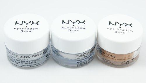 """NYX - NYX Eyeshadow Base""""Full Set!! - white, skin tone, white pearl"""