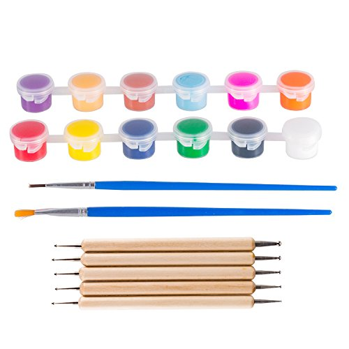 Deoot - Deoot 12 Colors Washable Watercolor Artist Set and 5 PCS Dotting Pens for Arts Crafts