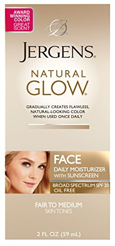 Jergens - Jergens Natural Glow Oil-Free Daily Moisturizer for Face with Broad Spectrum SPF 20, Fair to Medium Skin Tones, 2 Ounces