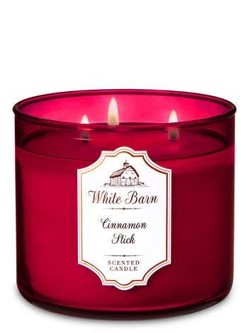 Bath & Body Works - White Barn 3 Wick Candle, Cinnamon Stick