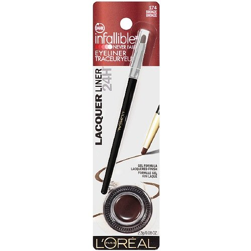 Maybelline - L'Oreal Infallible Gel Lacquer Liner, Bronze - 1 Ea, Pack of 2