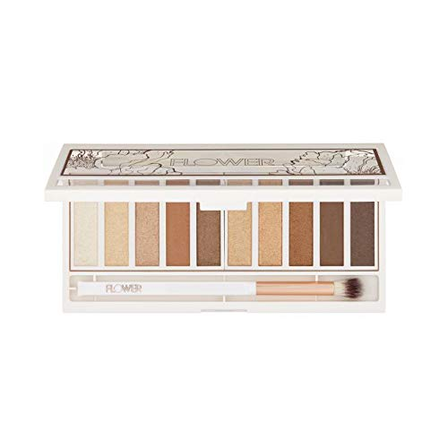 Flower Beauty - Shimmer & Shade Eyeshadow Palette, Golden Natural