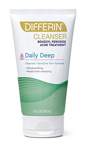 Differin - Differin Daily Deep Cleanser- Deep Cleans with the power of Maximum Strength Benzoyl Peroxide But with less Irritation and Dryness