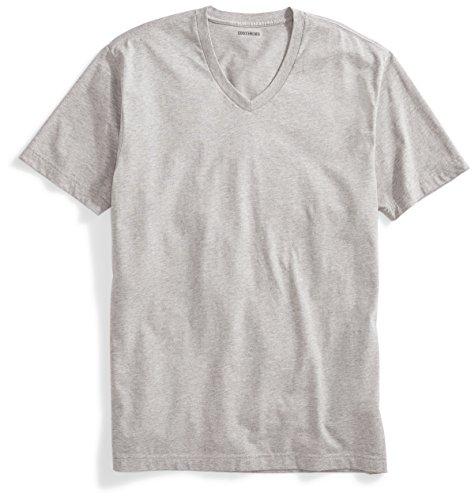 Goodthreads Goodthreads Men's Short-Sleeve V-Neck Cotton T-Shirt, Heather Grey, XX-Large