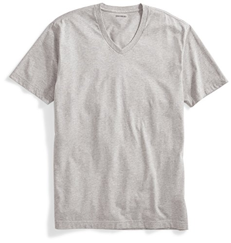 Goodthreads - Goodthreads Men's Short-Sleeve V-Neck Cotton T-Shirt, Heather Grey, XX-Large
