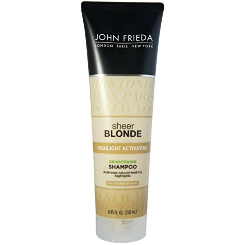 John Frieda - John Frieda Sheer Blonde Highlight Activating Brightening Shampoo Darker Blondes, 8.45 oz (Pack of 4)