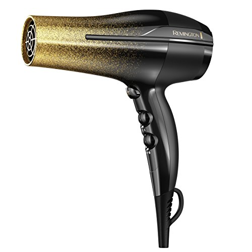 Remington Remington Titanium Fast Dry Hair Dryer with Ionic and Ceramic Technology, Black & Gold Glitter, D5951