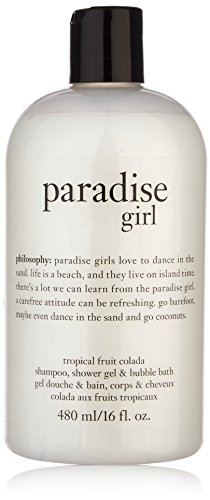 Philosophy - 16oz Philosophy Paradise Girl 3 in 1 Shampoo, Shower Gel & Bubble Bath - Tropical Fruit Colada