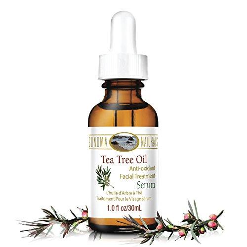 Sonoma Naturals - Sonoma Naturals Tea Tree Oil Serum for Face, 1 oz   Acne & Dry Skin   Pore Minimizer   Skin Moisturizing & Healing   Anti Oxidant Rich   Anticeptic & Antifungal