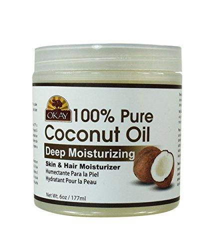 Okay - Okay Coconut Oil for Hair and Skin in Jar, 6 oz.