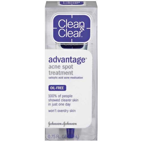 Johnson & Johnson - Clean and Clear Advantage Acne Spot Treatment Acne Treatments .75 Fl Oz Plastic Container - 24 per case.