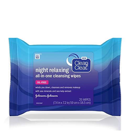 Clean & Clear - Clean&Clear Night Relaxing Cleansing Wipes, 25 Count