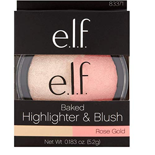 e.l.f - 1-e.l.f. Rose Gold Baked Highlighter & Blush, 0.183 oz