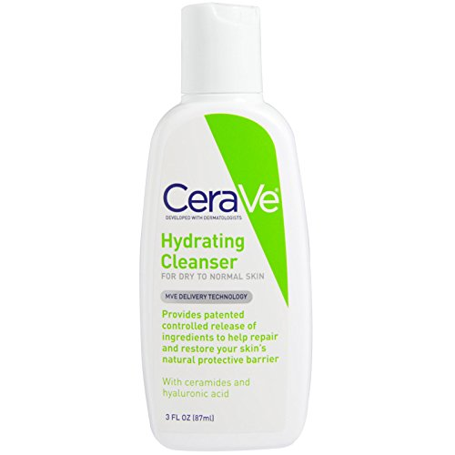 CeraVe - CeraVe, Hydrating Cleanser, For Dry to Normal Skin, 3 fl oz (87 ml) - 2pc