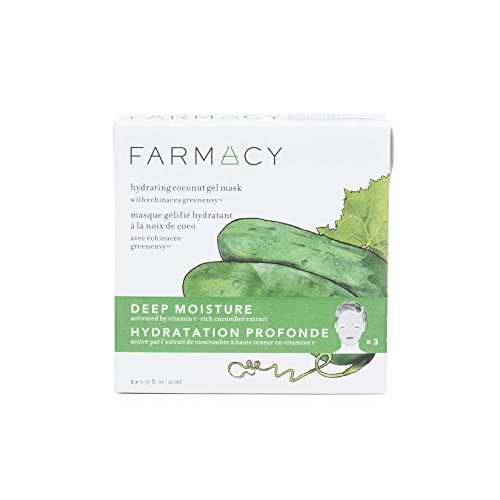 FARMACY - Farmacy Deep Moisture Hydrating Coconut Gel Mask with Cucumber Extract, 3 Masks