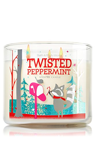 Bath & Body Works - Twisted Peppermint 3-wick Candle