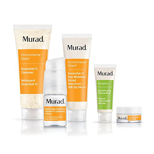 Murad Murad Rapid Lightening Regimen 30-Day Kit - (Cleanser, Serum, Moisturizer, and 2 Bonus Gifts), Simple 3-Step Regimen that Treats Skin Discoloration and Age Spots by Targeting Hyperpigmentation