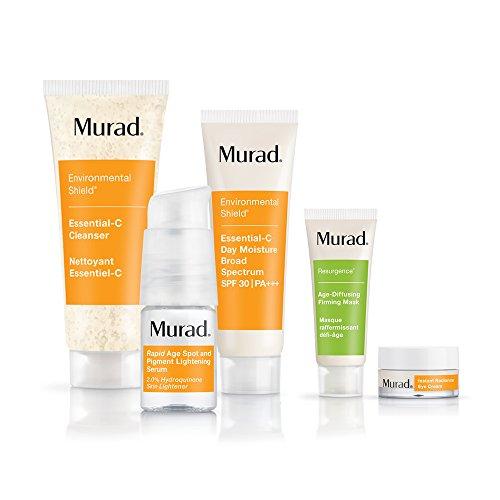 Murad - Murad Rapid Lightening Regimen 30-Day Kit - (Cleanser, Serum, Moisturizer, and 2 Bonus Gifts), Simple 3-Step Regimen that Treats Skin Discoloration and Age Spots by Targeting Hyperpigmentation