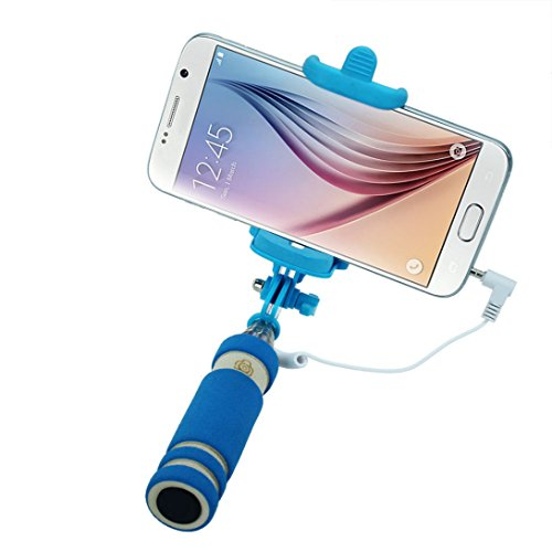 WensLTD - Wensltd Tripod Monopod Extendable Handheld Fold Self-portrait Stick (Blue)