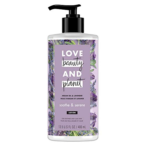 LBP LOTION - Love Beauty and Planet Argan Oil & Lavender Body Lotion, Soothe & Serene, 13.5 oz