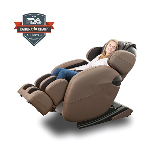 Kahuna Massage Chair - Zero Gravity Full-Body Kahuna Massage Chair Recliner LM6800 with Yoga & Heating Therapy (Brown)