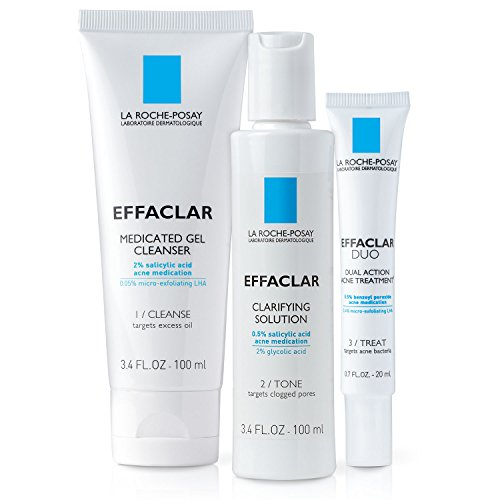 La Roche-Posay La Roche-Posay Effaclar Dermatological Acne Treatment System, 2-Month Supply