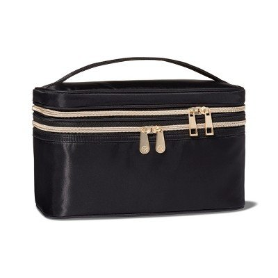 Sonia Kashuk - Sonia Kashuk153; Double Zip Train Case Makeup Bag - Black Black