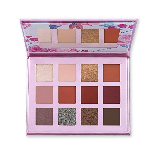 Serseul - Serseul Eyeshadow Palette with Mirror for Everyday Eye Makeup Natural Burgundy Eyeshadow Palette - Highly Pigmented Cruelty Free 7 Nude Matte + 4 Shimmer+ 1 Durochrome