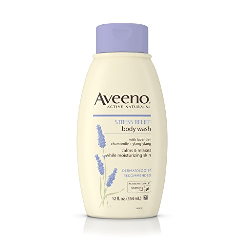 Aveeno Stress Relief Body Wash with Soothing Oat, Lavender, Chamomile & Ylang-Ylang Essential Oils