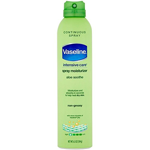 null - Vaseline Spray & Go Moisturizer, Aloe Fresh, 6.5 oz (Pack of 8)