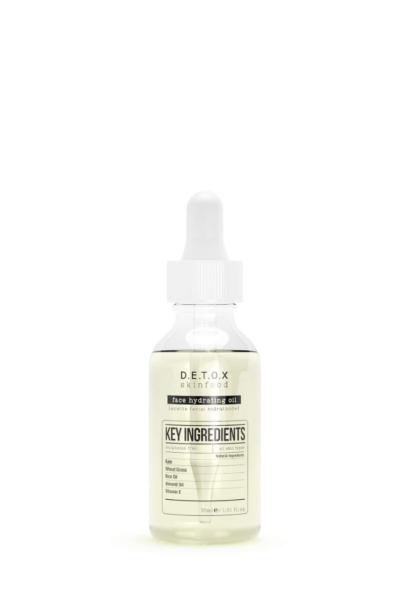 null - DETOX SKINFOOD Face Hydrating Oil - Antioxidant Facial Oil with Glow Effect, Not Oily Feeling - Vegan Skincare 30ml / 1fl.oz