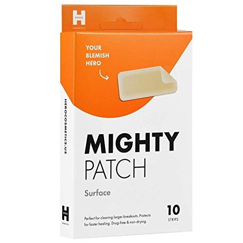 Mighty Patch - Mighty Patch Surface Hydrocolloid Large Acne Absorbing Pimple Patch (10 count)…