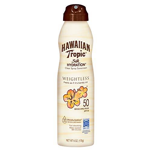Hawaiian Tropic Hawaiian Tropic Silk Hydration Sunscreen Spray, SPF 50, 6 Ounce - Pack Of 3