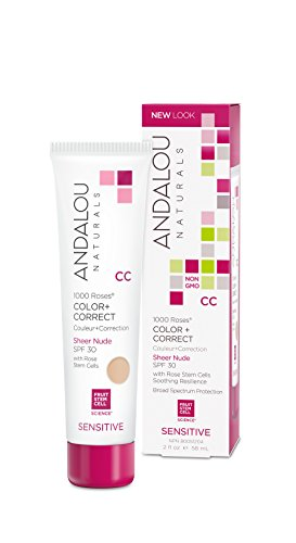 Andalou Naturals - Andalou Naturals 1000 Roses CC Color + Correct Sheer Nude SPF 30, 2 Ounce