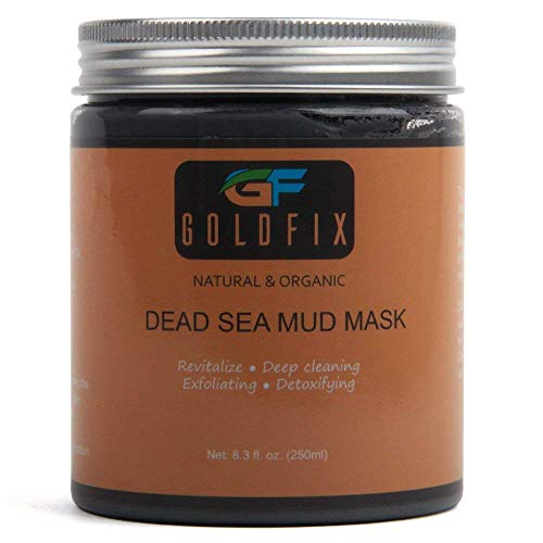 GoldFix - GOLDFIX Dead Sea Beautifying Clay Fiber Mask For Acne, Oily Skin & Blackheads - Best Clay Facial Mask Treatment for Pore Minimizer & Cleansing, SPA Effect. 250 ml. Best Choice!!