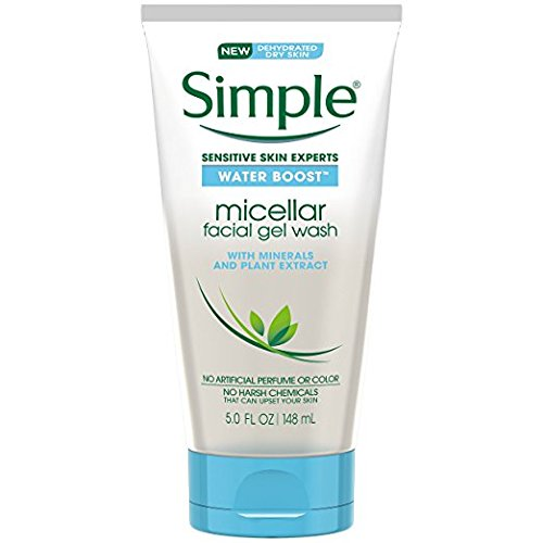 Simple Water Boost Micellar Simple Water Boost Micellar Facial Gel Wash, Sensitive Skin, 5 fl oz (Pack of 2)