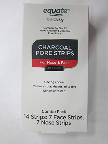 Equate Beauty - Equate Beauty Charcoal Pore Combo Strips for Nose & Face, 14 Strips (Pack of 2)