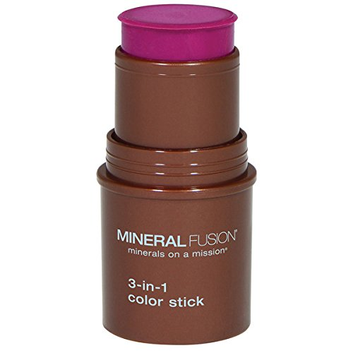 Mineral Fusion - Mineral Fusion 3-in-1 Color Stick, Berry Glow.18 Ounce