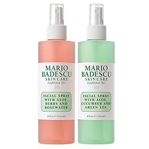Mario Badescu - Facial Spray with Rosewater & Facial Spray with Green Tea Duo
