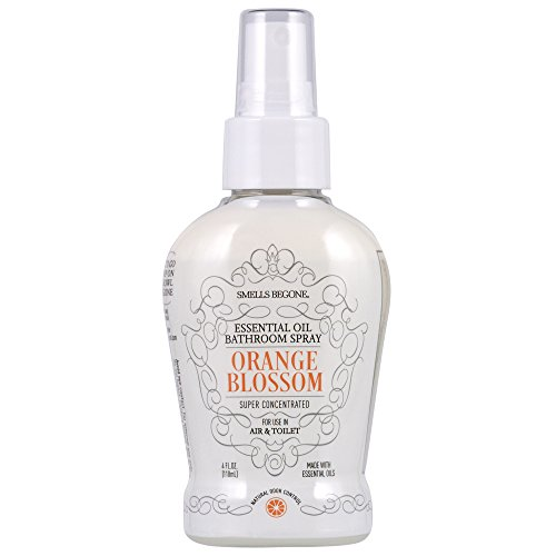 Smells Begone SMELLS BEGONE Essential Oil Air Freshener Bathroom Spray - Eliminates, Neutralizes and Purifies Air & Toilet Odors - Made with 100% Pure Essential Oils - Super Concentrated - 4 Ounces (Orange Blossom)